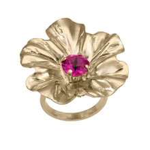 Load image into Gallery viewer, gold flower ring