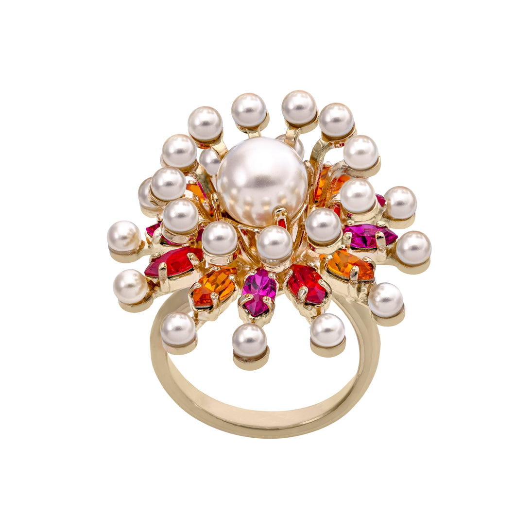 sputnik flower ring
