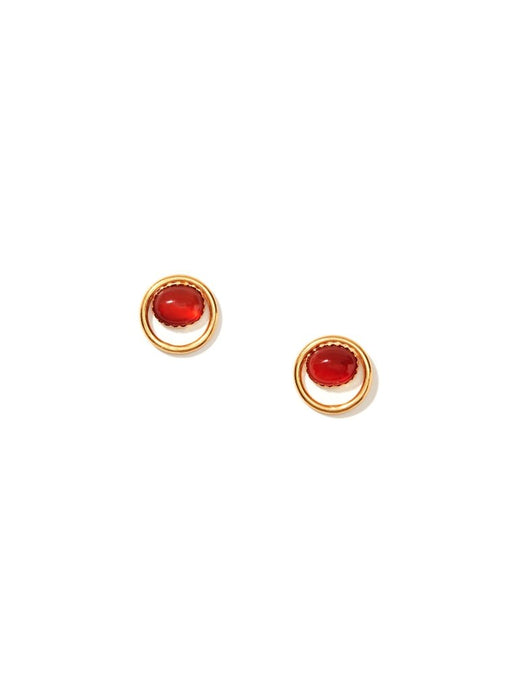Red Carnelian Stud Earrings
