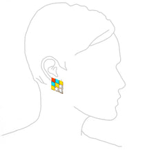 Load image into Gallery viewer, diamond shape Earrings