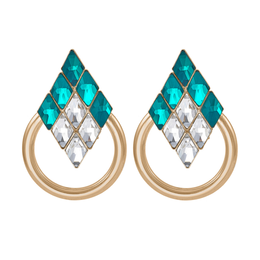 DIamond and ring earrings