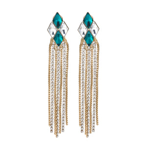 Cascade diamond earrings