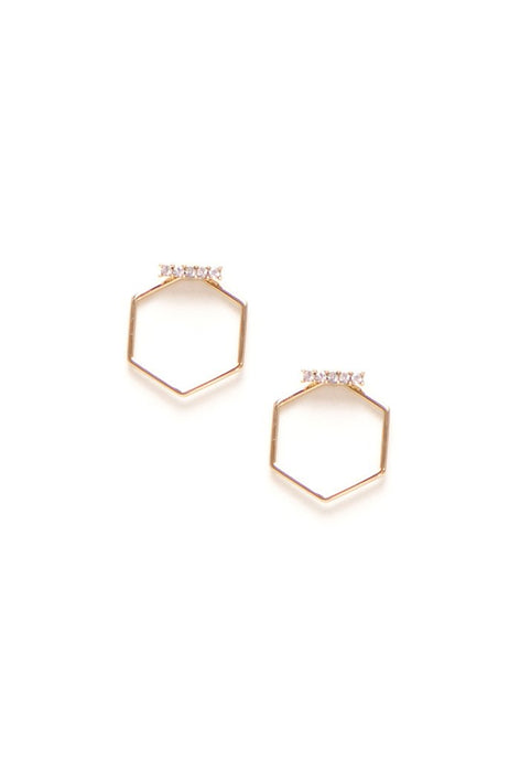 Hex-y Crystal Earrings