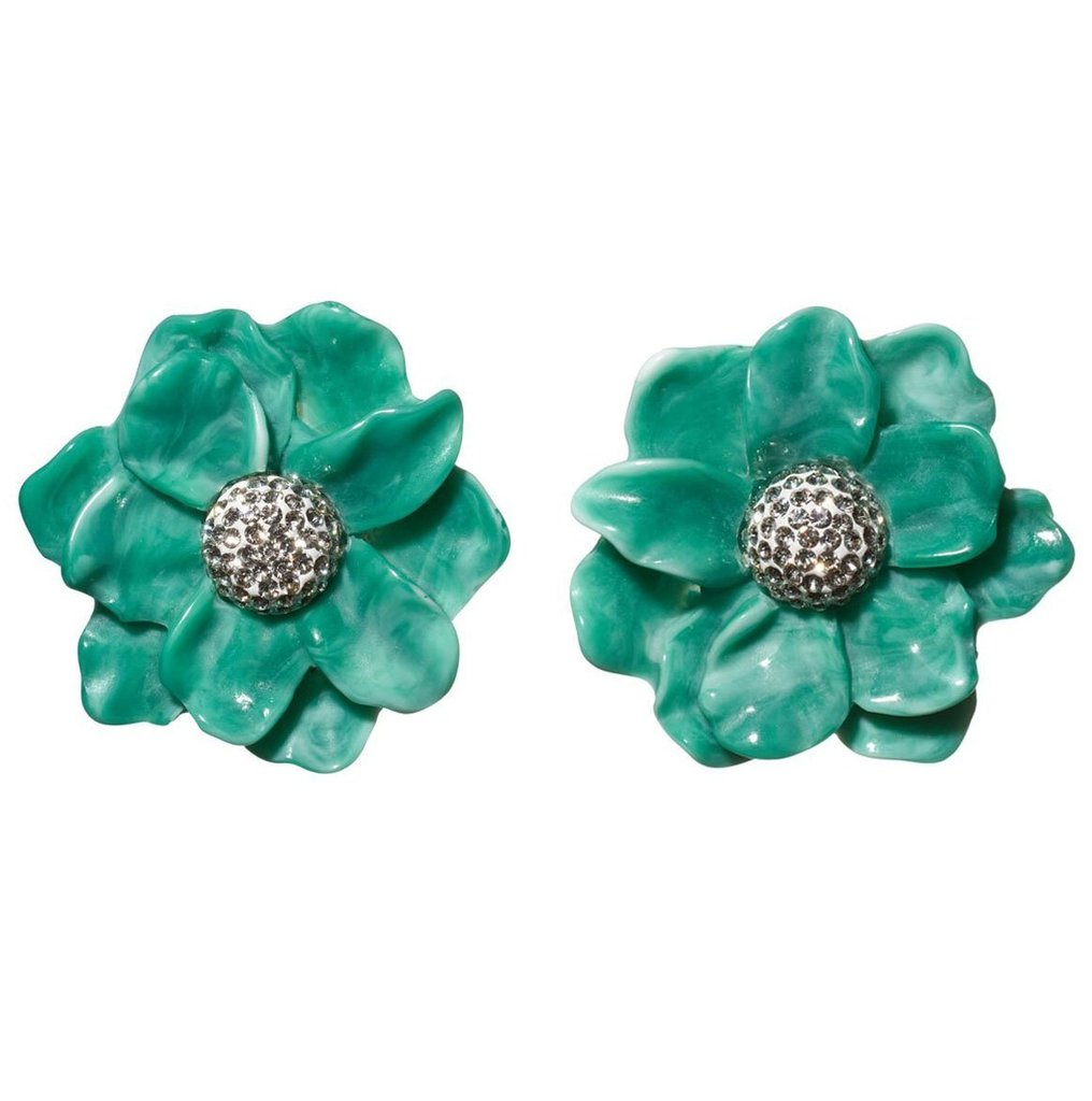 Oversized Gardenia Stud Earrings