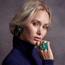 Load image into Gallery viewer, Oversized Gardenia Stud Earrings