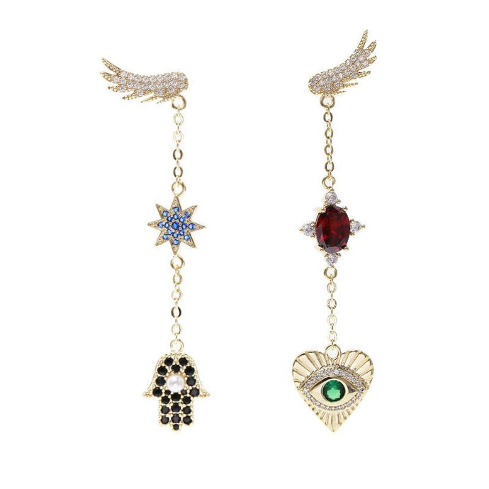 Wing Eye Love Earrings