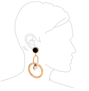 Oval Link Sphere Earrings