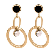 Load image into Gallery viewer, Oval Link Sphere Earrings