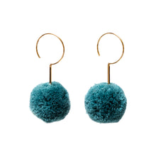 Load image into Gallery viewer, Prana Pom Pom Drop Earrings