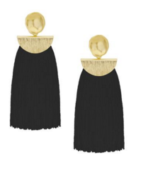 Ellie Long Tassel Fringe Earrings