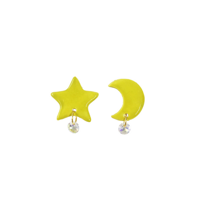 Snap Star and Moon Studs