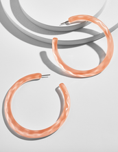 Load image into Gallery viewer, Heidy Lucite Hoop Earrings