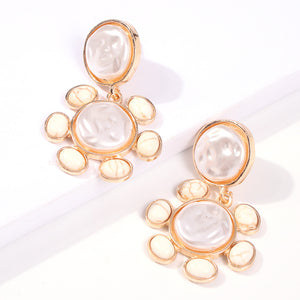Pearl and Stone Earrings |