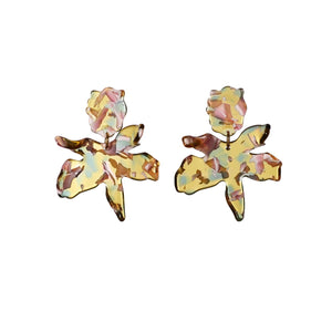 Small Paper Lily Earrings