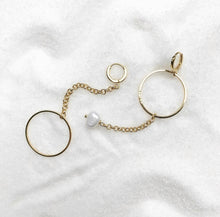 Load image into Gallery viewer, Tallulah Asymmetrical Hoop Earrings