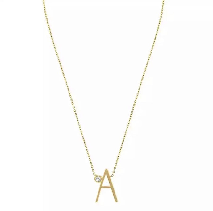 Leticia Initial CZ Necklace