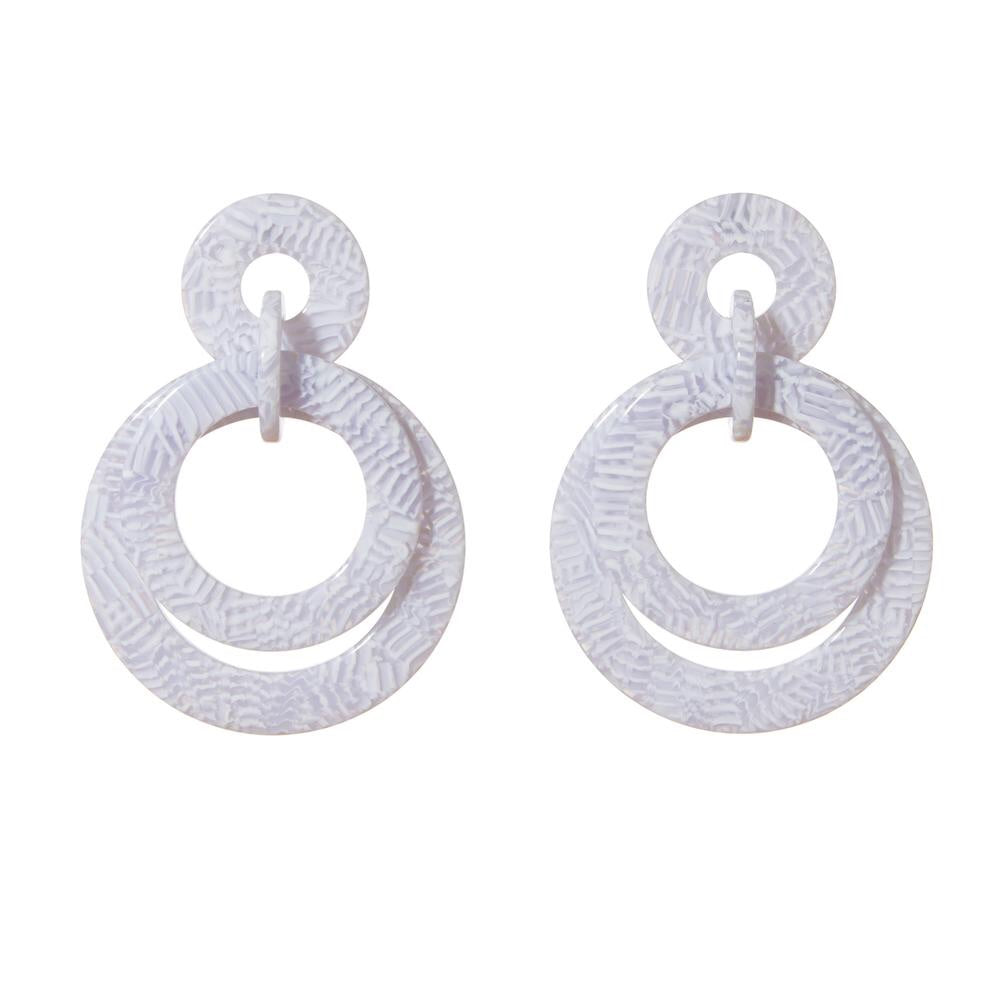 Banded Hoop Earrings
