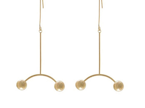 Stratus Gold Earrings