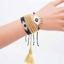 Load image into Gallery viewer, Evil Eye Miyuki and Beads Bracelet Set