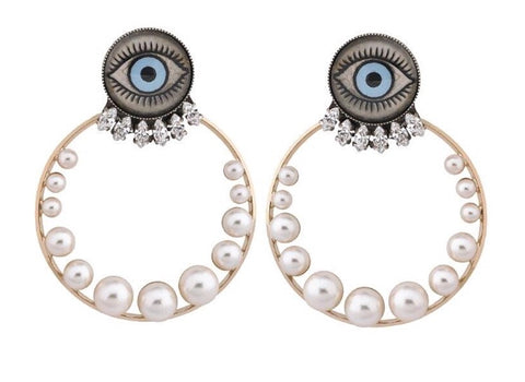 Removable Hoop Eye Earring