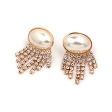 Load image into Gallery viewer, Pearl and Rhinestone Fancy Earrings