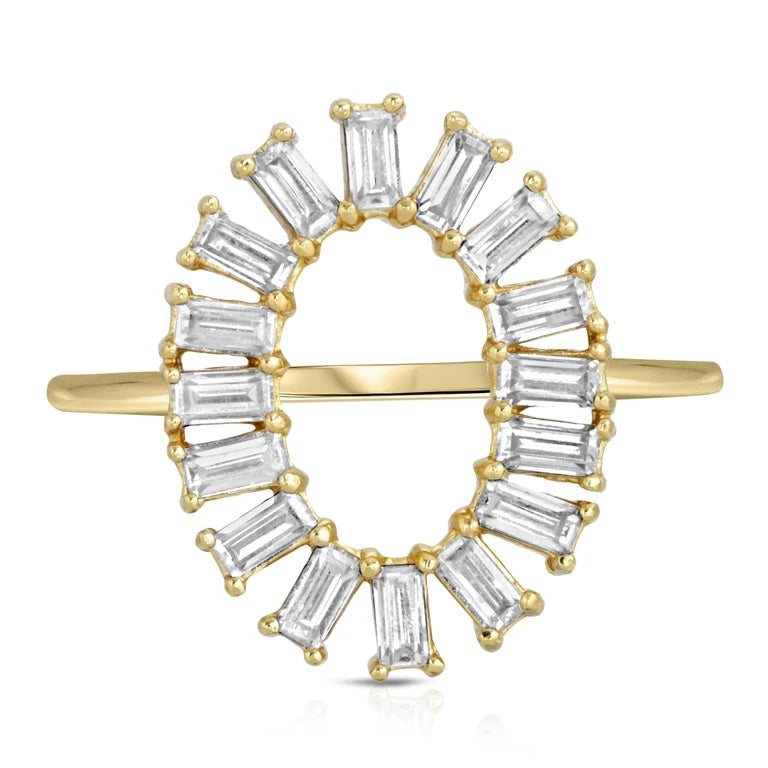 Oval Baguette Ring
