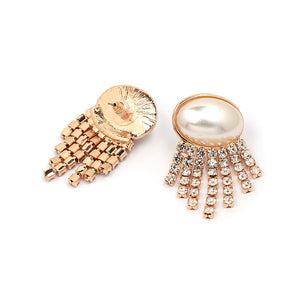 Pearl and Rhinestone Fancy Earrings