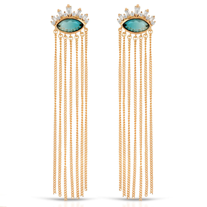 Athena Chain Drop Earrings