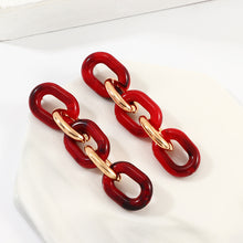 Load image into Gallery viewer, Red Link Earrings