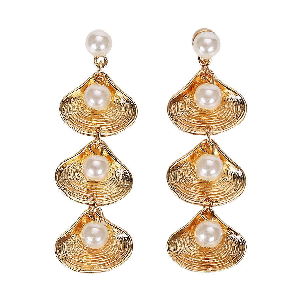 Hippocampus Shell Earrings