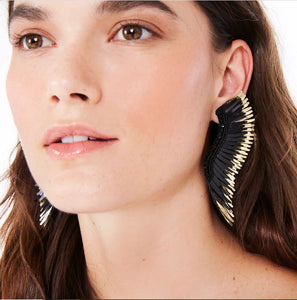 madeline earrings black