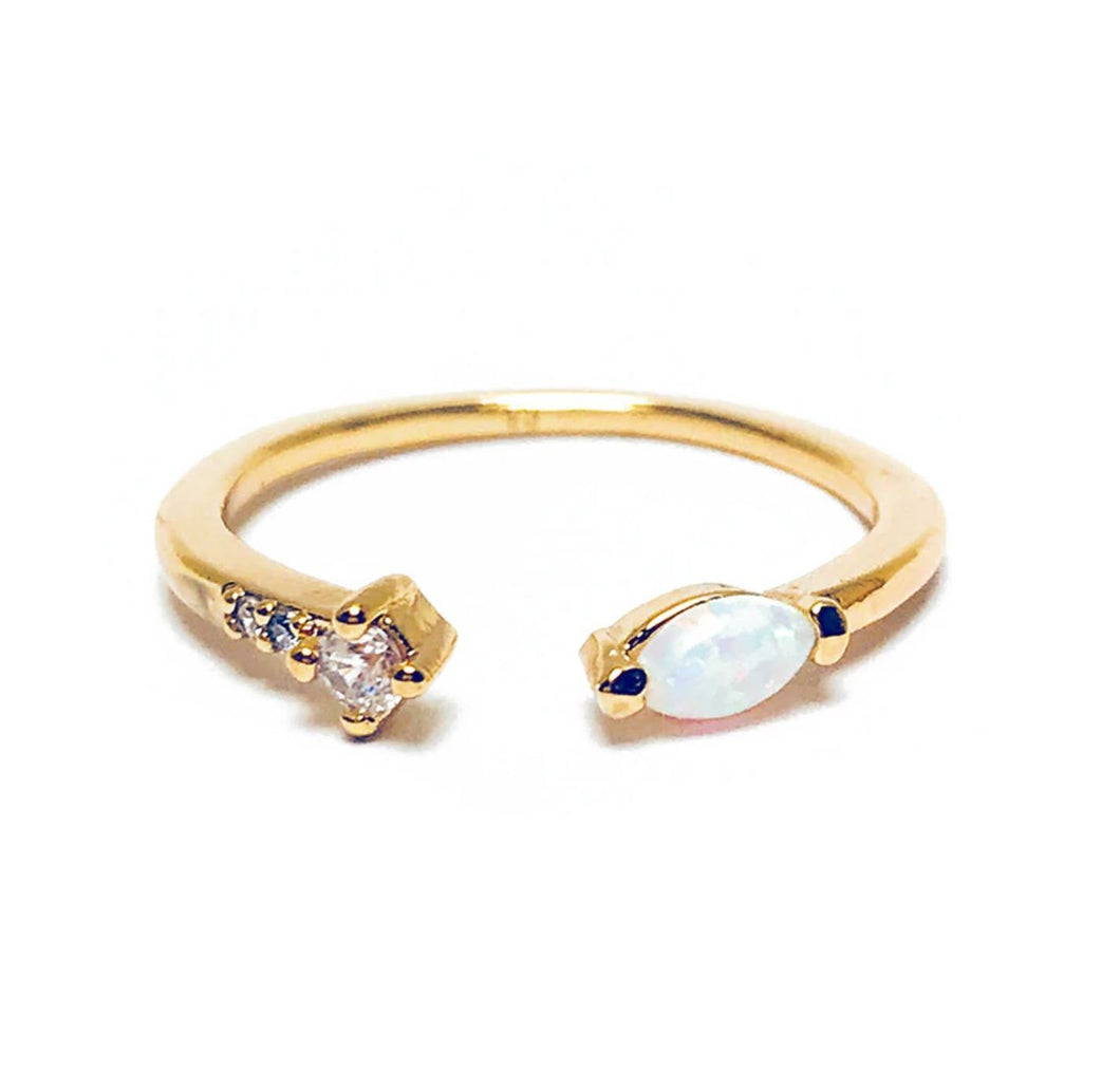 Opal Marquis Stacking Ring