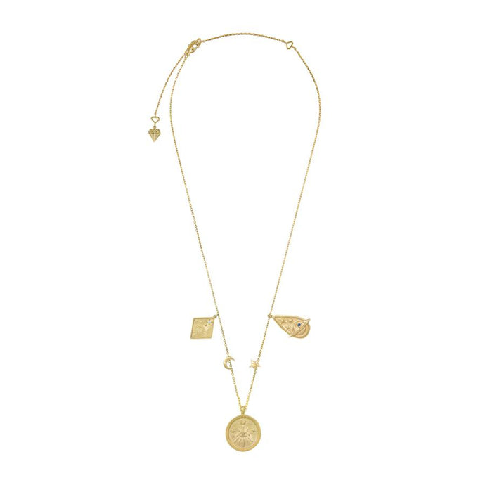 aleya multi charm necklace