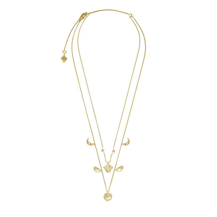 Stella Gold Moon Necklace
