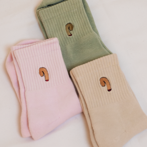 muted colours novelty cotton socks
