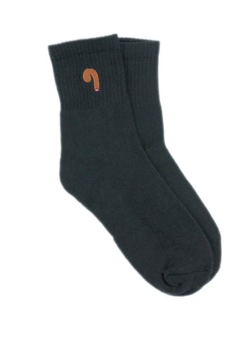 Black cotton novelty socks