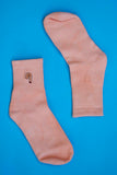 Orange cotton sports socks