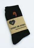 cocks on socks black bamboo socks with black cock