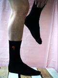 Black bamboo socks for men