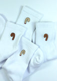high performance white cotton sports socks from cocks on socks