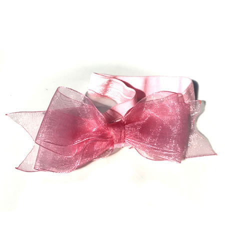 Organza Bow Headband - Boutique Wedding Collection - Baby Hair UK