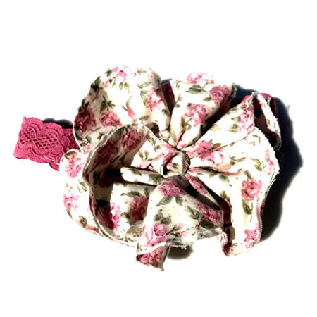 Floral Dusty Pink Vintage Headband - Boutique Wedding Collection - Baby Hair UK