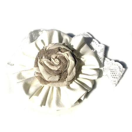 Twisty Rose Headband - Boutique Wedding Collection - Baby Hair UK
