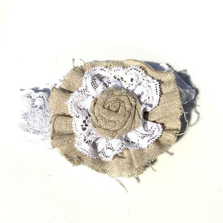 Rustic Shabby Chic Headband - Boutique Wedding Collection - Baby Hair UK