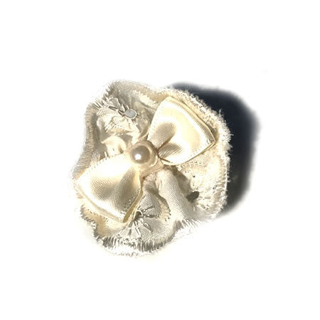 Broderie Anglaise Clip - Boutique Wedding Collection - Baby Hair UK