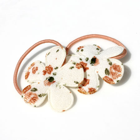 Vintage Floral Flower Hair Bobbles