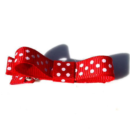 Polka Dot Ribbon Bow Hair Clip - Hair Clip - Baby Hair UK