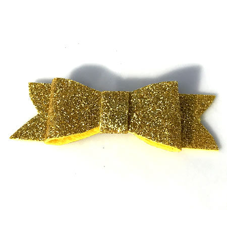 Felt Glitter Bow - Christmas Collection - Baby Hair UK