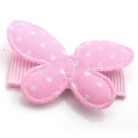 Polka Dot Butterfly Hair Clip - Hair Clip - Baby Hair UK