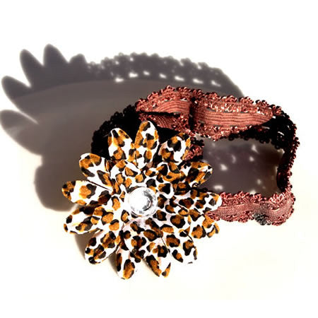 Animal Print Daisy Jewel Headband - Headbands - Baby Hair UK